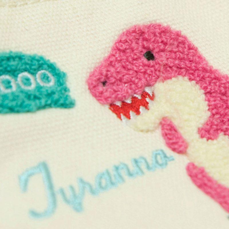 ◆サガラ刺繍舟形ポーチティラノサウルス/Sagara embroidery pouch Tyrannosaurus:702340