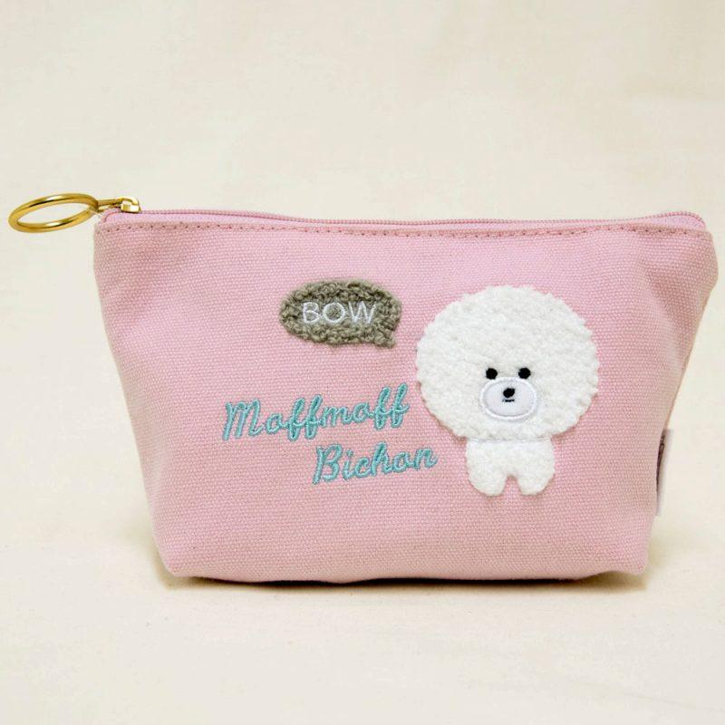 ◆サガラ刺繍舟形ポーチほわーる/Sagara embroidery pouch Howa-ru:702335