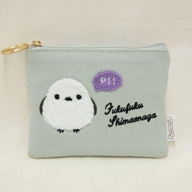 ◆サガラ刺繍ティッシュポーチシマちゃん/Sagara Embroidered Tissue Pouch Shima-chan:702338