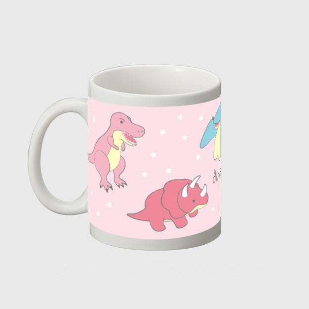 【オンライン限定】恐竜時代マグカップ(パステル/ピンク) 572041