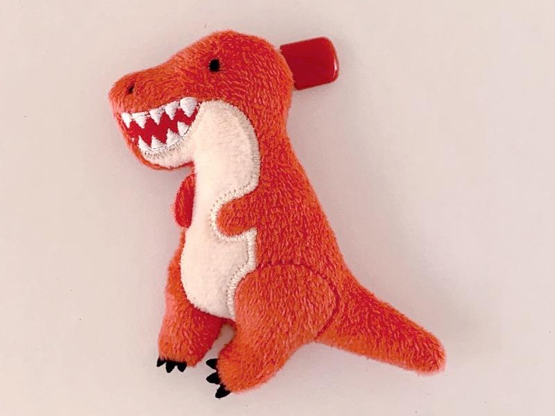 ぬいぐるみバッジ(全身/ティラノサウルス)/Plush badge Full-body(Tyrannosaurus):702207