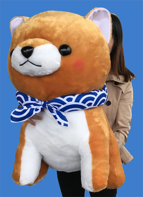 【特大サイズ】豆しば三兄弟 豆太郎スーパージャンボ/MAMESHIBA SANKYODAI MAMETARO Super jumbo:700428