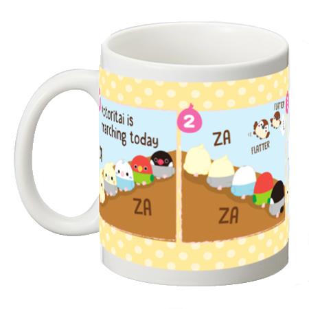 【オンライン限定】ことり隊4コマ マグカップ