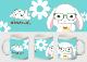 【オンライン限定】ぽてうさろっぴーマグカップ(メガネ)