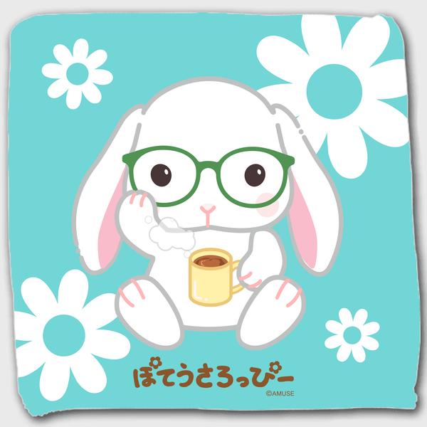 【オンライン限定】ぽてうさろっぴーハンドタオル(メガネ)