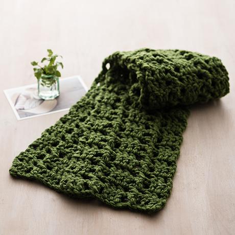 編み針付キット かぎ針 模様編みマフラー