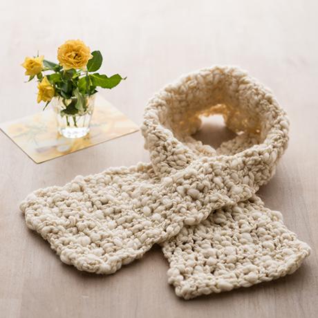 編み針付キット かぎ針 穴あきマフラー