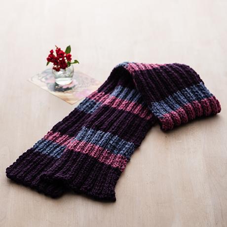 編み針付キット 棒針 2目ゴム編みマフラー