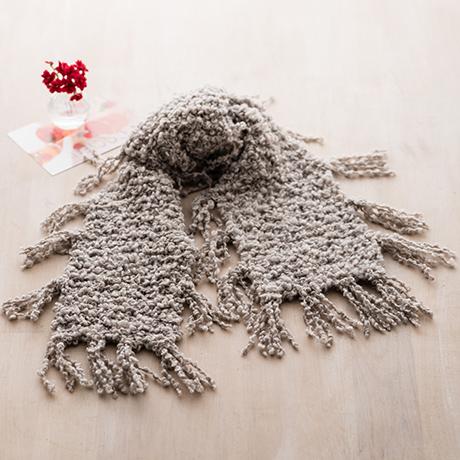 編み針付キット 棒針 フリンジマフラー