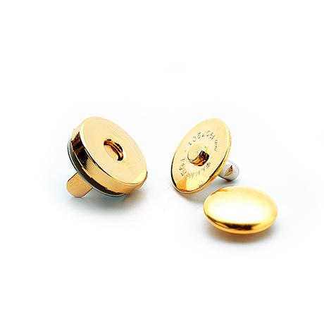 H206-047-1 カシメ式マグネット付丸型ホック(14mm) 金
