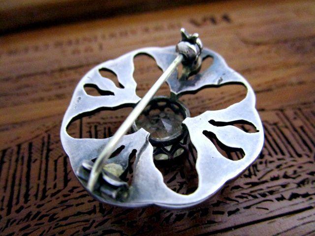 英国ビンテージ シルバー925 シスル/アザミ ブローチ SCOTLAND Celtic スコティッシュ ケルト 純銀