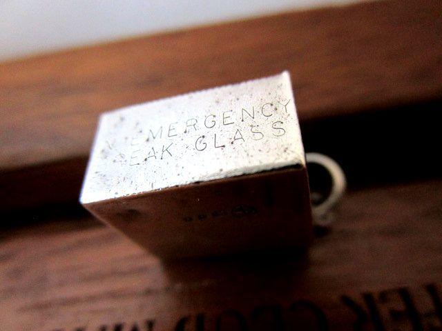 英国ビンテージ シルバー チャーム/フォブ チェーン 10シリング紙幣 イギリス ロンドンJM社製