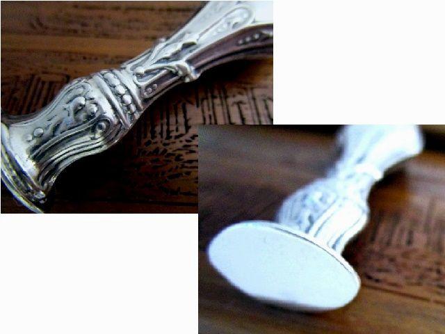 英国ビンテージ シルバーデスクシール シーリングワックス 封蝋 純銀 イギリス雑貨 ロンドン1989年 Ari D Norman社製
