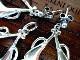 ビンテージ スターリング シルバーイヤリング/ピアス&ペンダント セット アールヌーヴォー装飾 純銀 14.3g 箱付 ART NOUVEAU