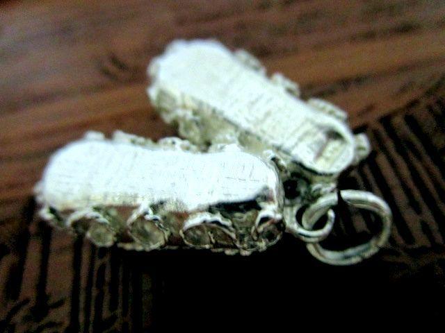 英国ビンテージ スターリングシルバー チャーム 靴 シューズ チェーン ブレスレット/ペンダント 純銀4.1g