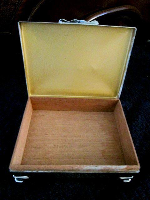 英国ビンテージ シルバーp シガレットケース/トリンケット BOX ジュエリーボックス 葉巻 箱 EPNS シェフィールド ARISTOCRAT社製