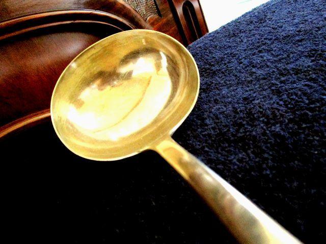 英国アンティーク シルバーp サーヴィング レ—ドル 大きなお玉 240g カトラリー ビクトリア期1850年代イギリス雑貨 Elkington&co