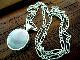 英国ビンテージ ブルージョンストーン シルバーフォブ天然石/BLUE JOHN 洞窟 ペンダント ネックレス 純銀20.3g シェフィールドASD社