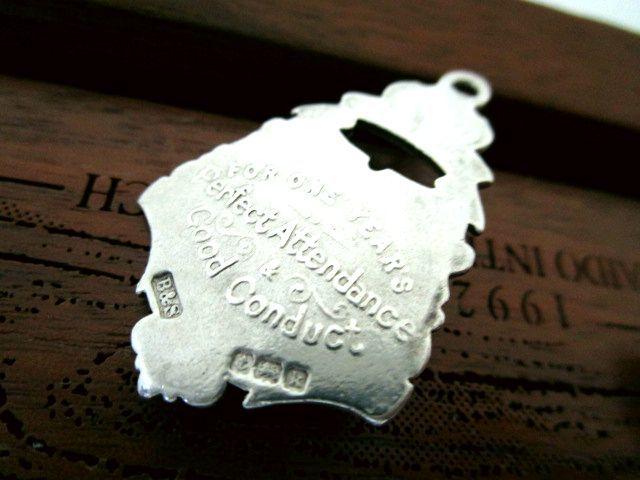 英国アンティーク シルバーフォブ 馬のスタチュー 懐中時計 チェーン 純銀 エドワード期1909年 バーミンガム B&S社製
