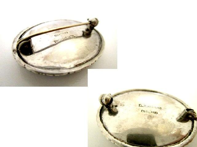 英国アンティーク バタフライウィング モルフォ蝶 純銀4.9g シルバー ブローチ 幻想的 1920s アールデコ TLM イングランド