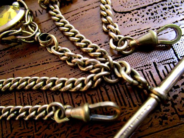 英国アンティーク 18CT ROSE R.GOLD Wチェーン スピナーフォブ スモーキークォーツ 懐中時計 31g ビクトリア期 Samuel社製