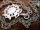 英国 アンティーク シルバー 両面装飾 透かし模様 フォブ/ペンダント ロングチェーン 純銀 ART DECOバーミンガム1922年WHH社製