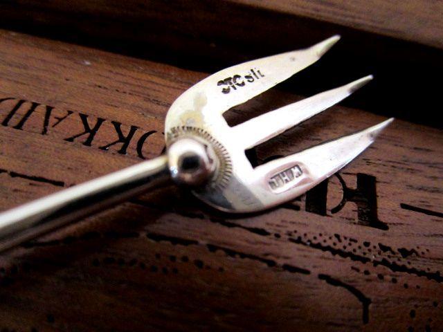 英国ビンテージ シルバー シトリン フォーク/ピック シスル Celtic ケルト 純銀 スコットランド WHL社製