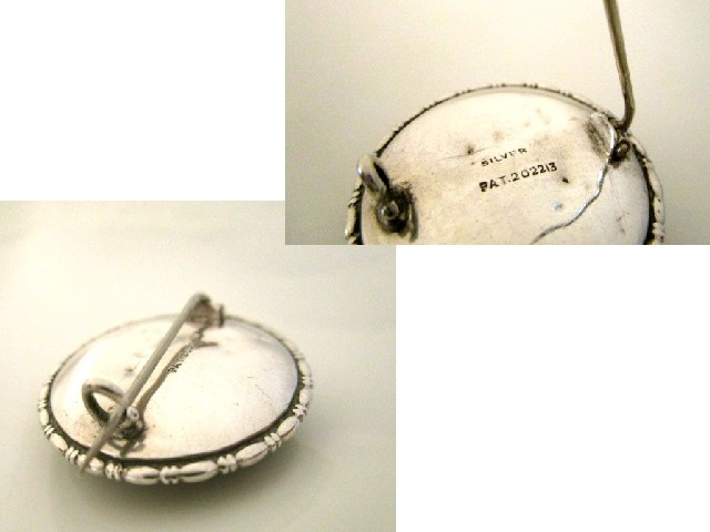英国アンティーク バタフライウィング モルフォ蝶 純銀 シルバー ブローチ 少女 少女 幻想的 1920s アールデコ TLM