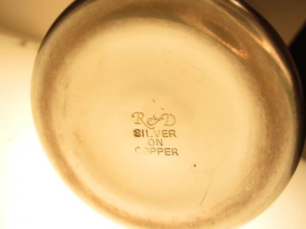 英国 ビンテージ/アンティークカクテルシェーカー SILVER ON COPPER R&D