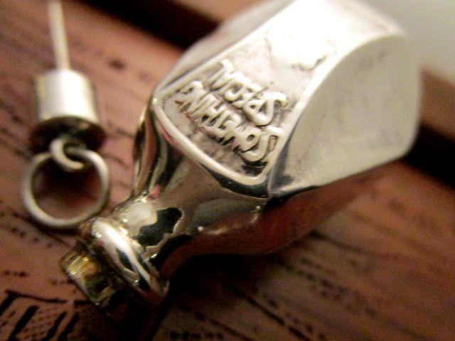 英国 ビンテージ シルバー香水瓶 パーフューム Scent Bottle チェーン フォブ