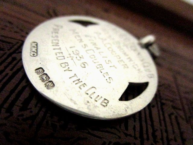 英国アンティーク フォブ ペンダント ローズゴールド 懐中時計 チェーン 純銀 ジョージ5世 バーミンガム1936年 WWC社製