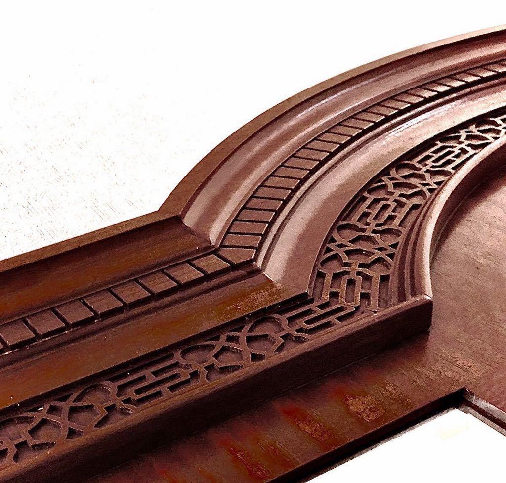英国ビンテージ/アンティーク ハロッズ職人 手彫り装飾 大型 壁掛 ウォール バー パブミラー イギリス家具 店舗什器 ディスプレイ/極美品
