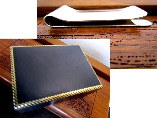 英国ビンテージ シルバー925 マネークリップ 純銀 イギリス バーミンガム  B&C社製 箱付