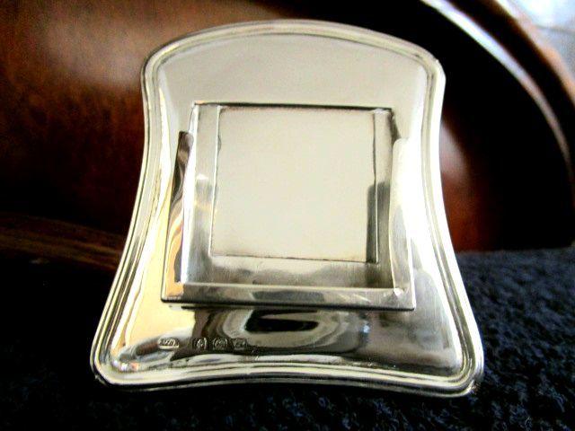 英国アンティーク シルバー デスクカレンダー 木製スタンド 卓上 純銀 ジョージ5世 バーミンガム1923年 WA社製 イギリス雑貨