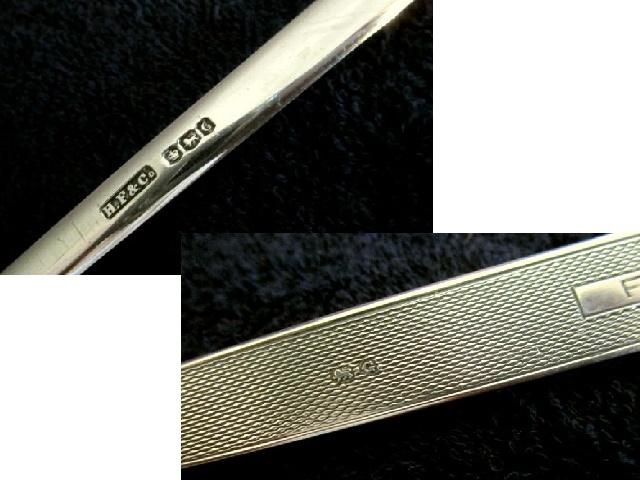 英国ビンテージ シルバー ペンナイフ レターオープナー 純銀 ブレード 51g ジョージ6世 シェフィールド1949年H.F社製