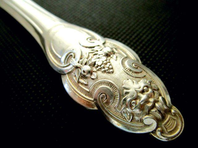 英国アンティーク シルバーバーターナイフ 純銀 シェフィールド ビクトリア期1855年HW社製イギリス雑貨 カトラリー