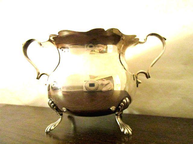 英国アンティーク シルバーシュガーボウル 小物入れ カトラリ— 純銀 バーミンガム エドワード期1904年