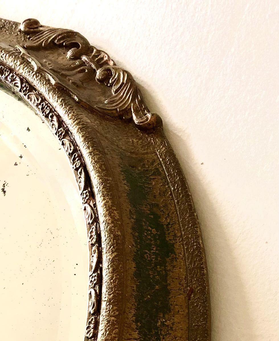 英国製アンティーク 壁掛 木製ウォールミラー ハンドペイント イギリス雑貨 店舗什器/ディスプレイ