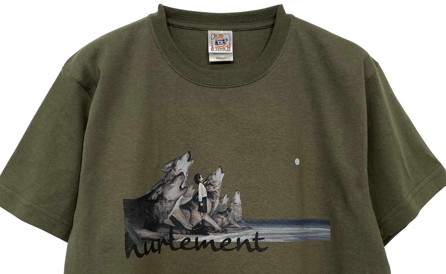 遠吠え Tシャツ (Khaki)