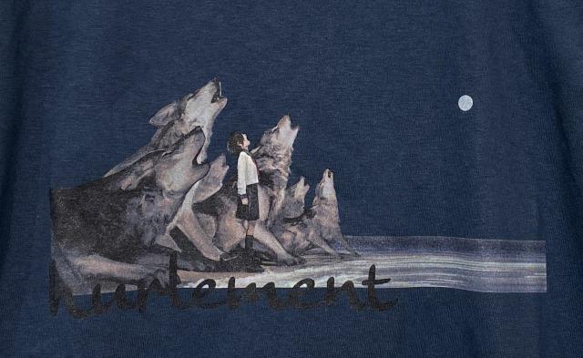 遠吠え Tシャツ (Ash Blue)