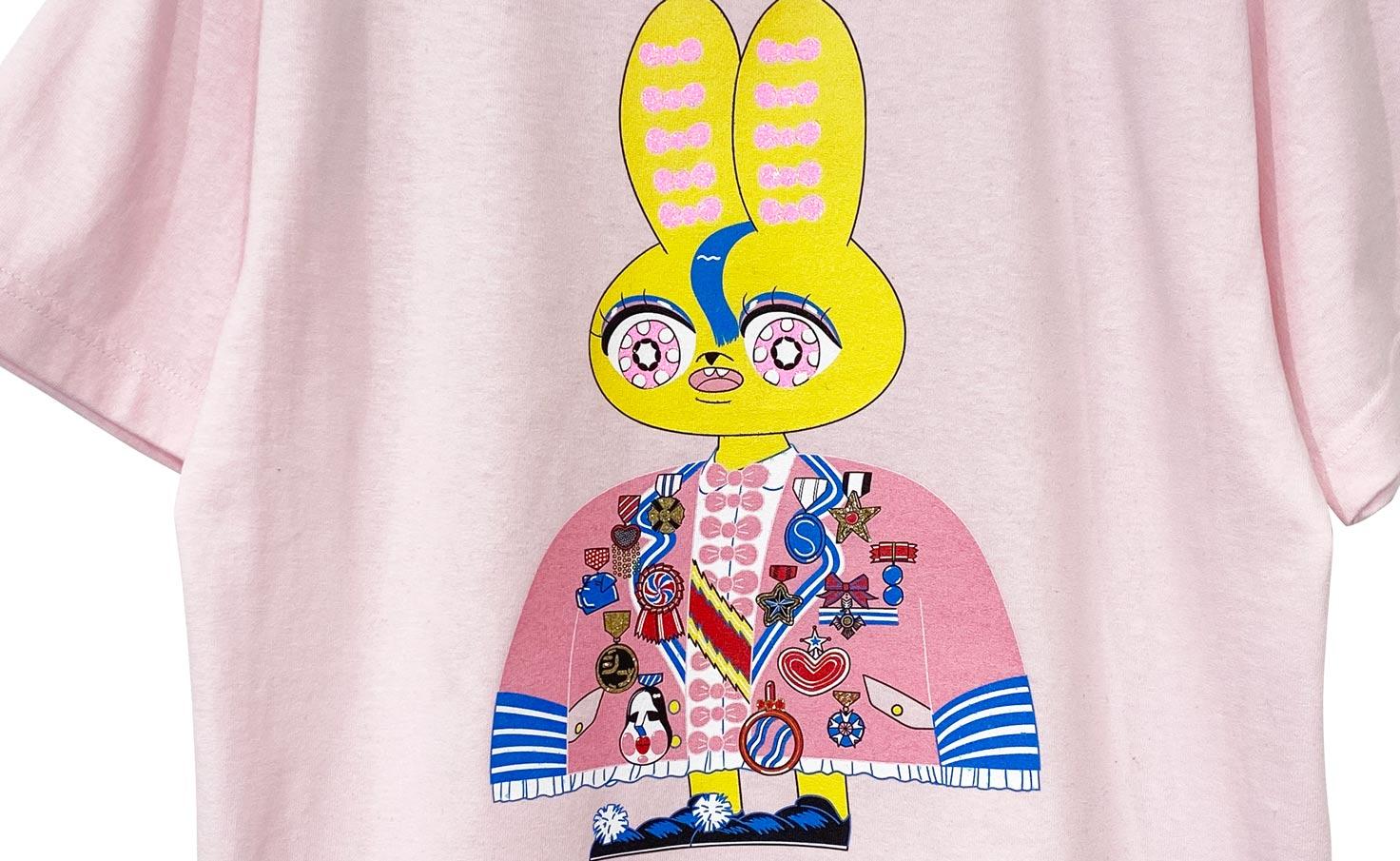 ウサギ_Tシャツ