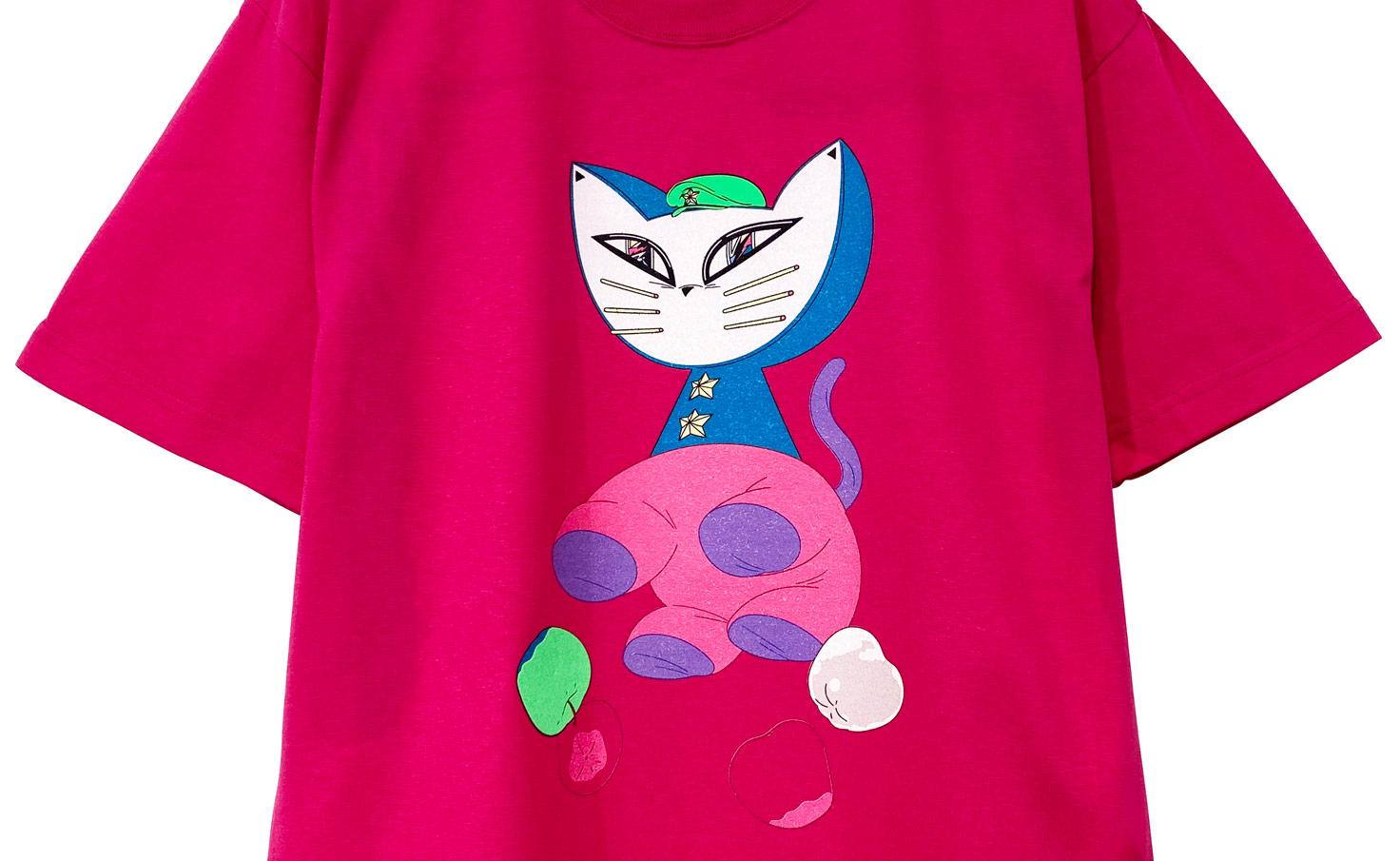 ネコ_Tシャツ