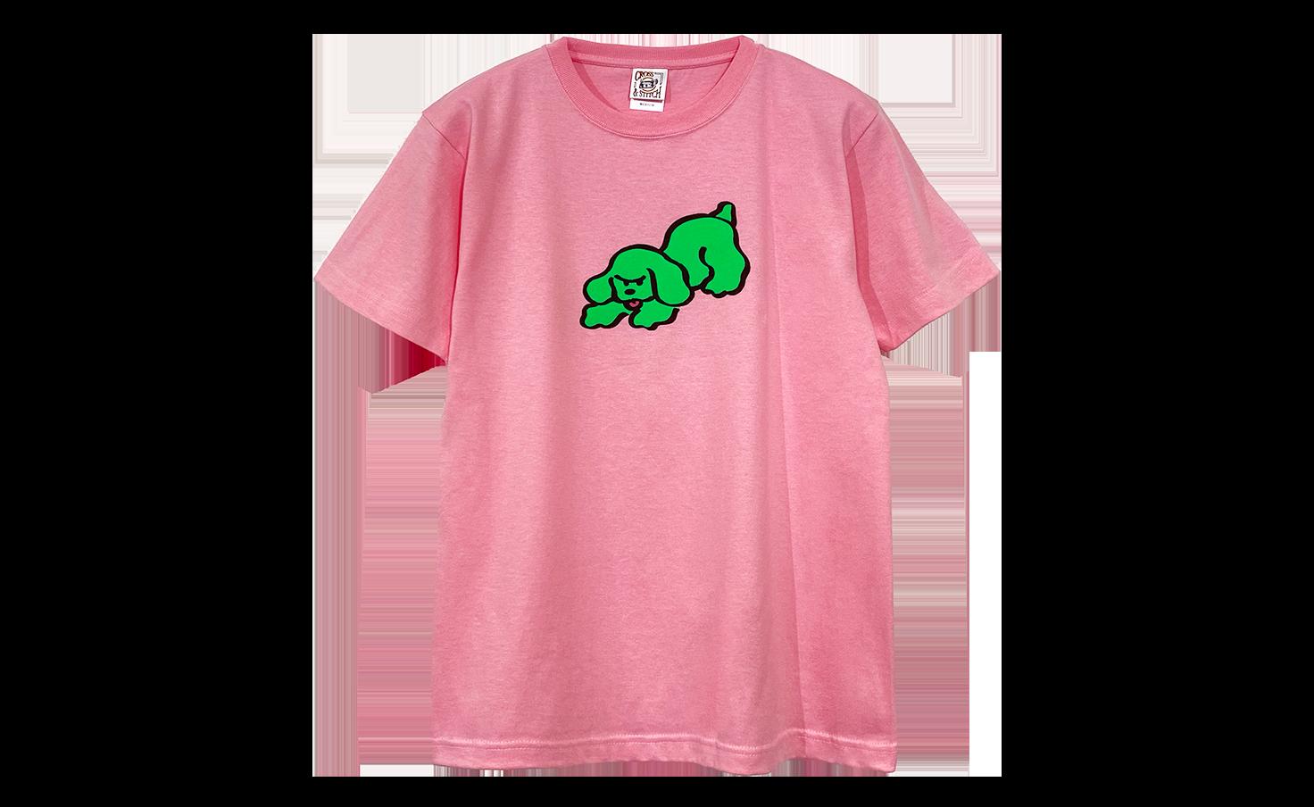 Tシャツ_ブチギレワンコ_ピンク