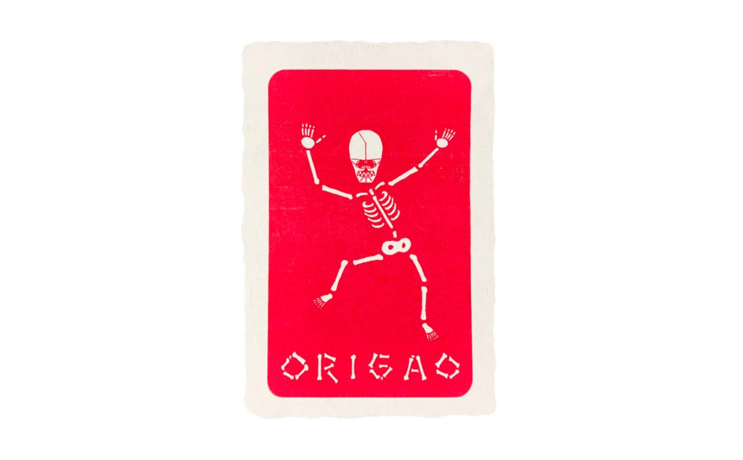 ポストカード ホネで踊ろう(黒、赤)
