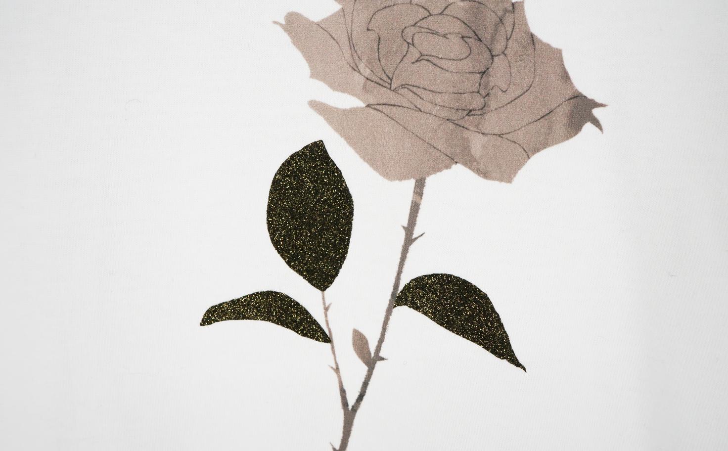 『ばらの花』 ロングスリーブTシャツ(ホワイト)