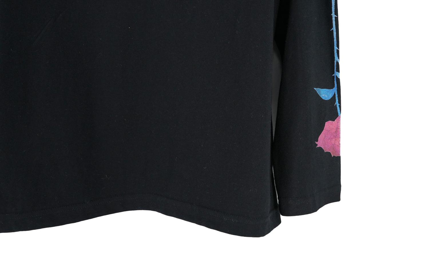 『ばらの花』 ロングスリーブTシャツ(ブラック)