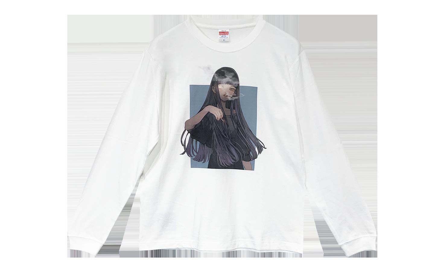 ロングTシャツ_THIN MOON_A