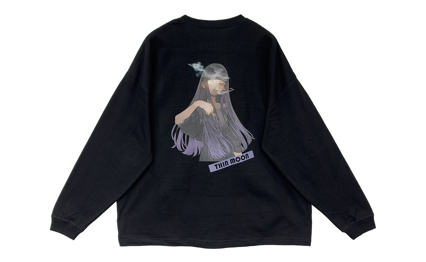 BigロングTシャツ_THIN MOON