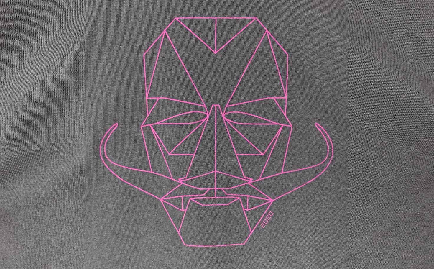 オリジナルデザインTシャツ(形状記憶髭の固執)