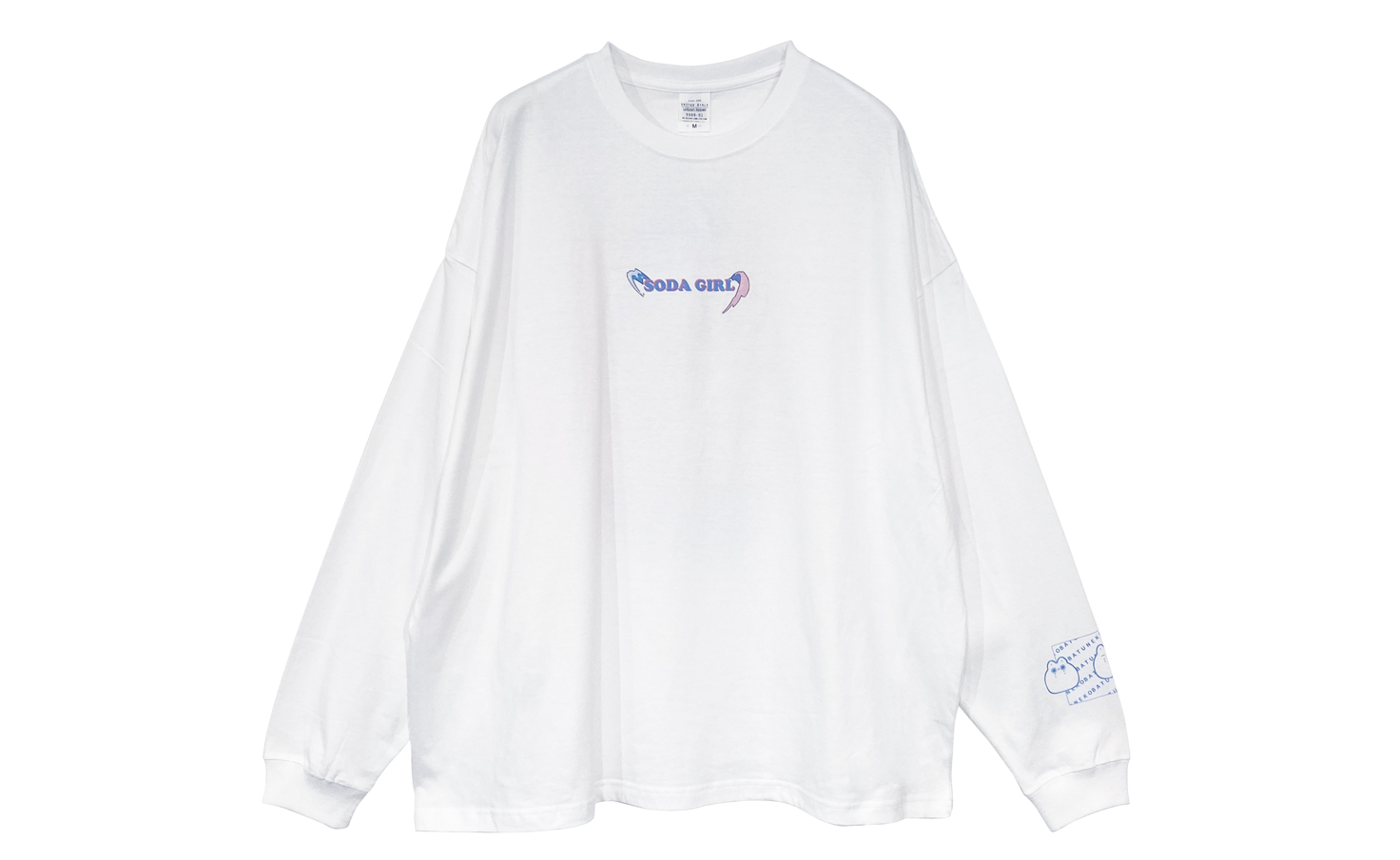 飲み物系女子_ソーダ_ロングTシャツ
